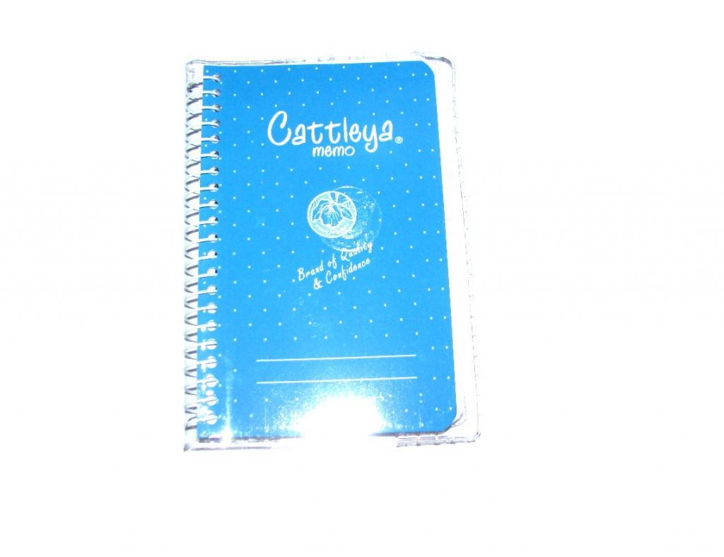 Cattleya Memo Spiral Notebook Cm Blue 35 Little Town