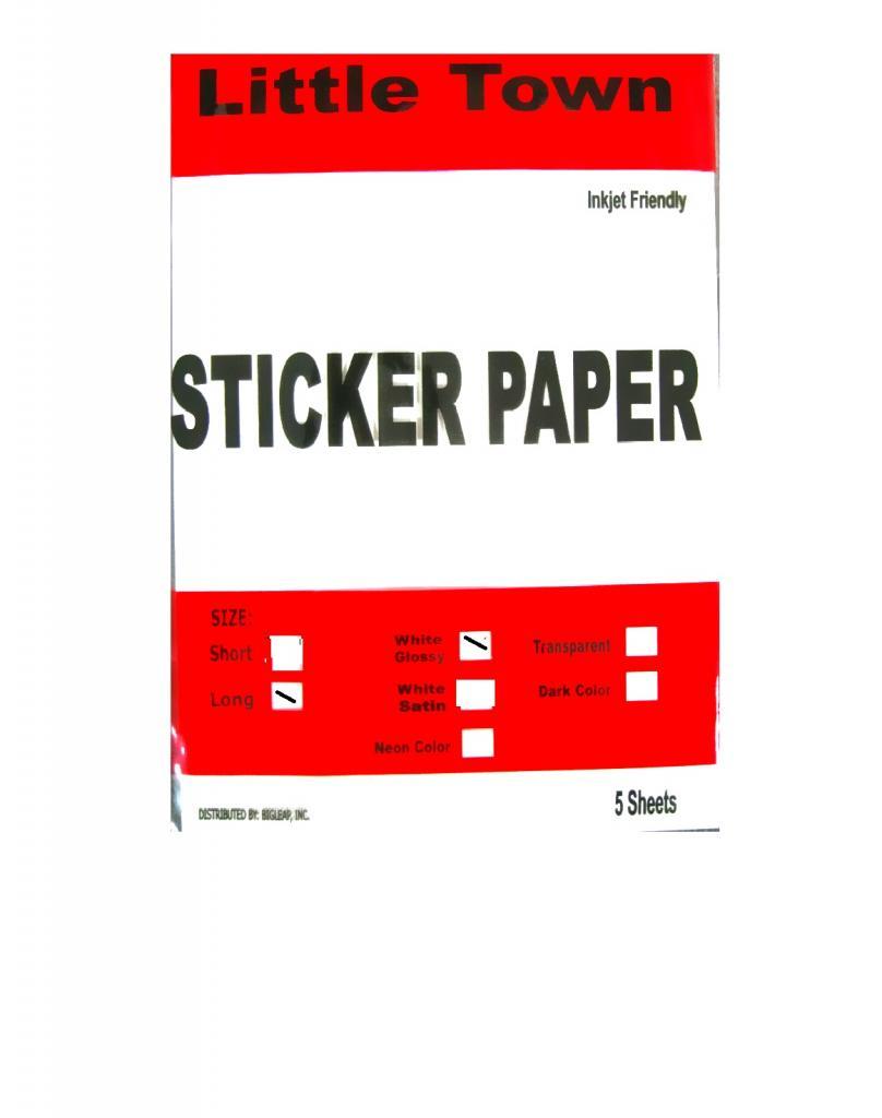 lt glossy sticker papers long 5pcs little town school office