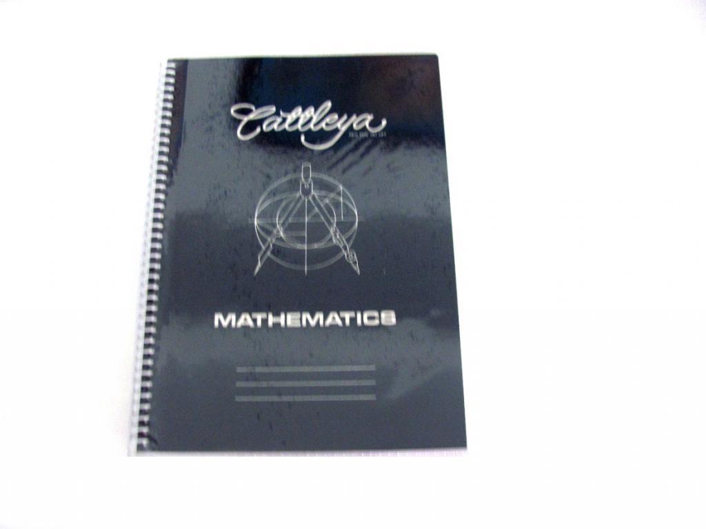 Cattleya Math Spiral Notebook 50s Little Town School